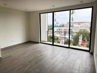 Una habitación con un gran ventanal y un balcón en Departamento Nuevo en Venta con balcón y Roof Garden, Col. Roma