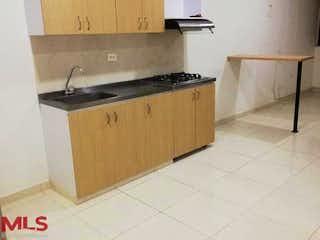 Una cocina con un fregadero y una estufa en Florida de Norte America