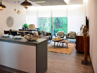 Una sala de estar llena de muebles y una ventana en Venta de Departamento en Av. Carlos Fernández Graef, Álvaro Obregón, Des Over SF