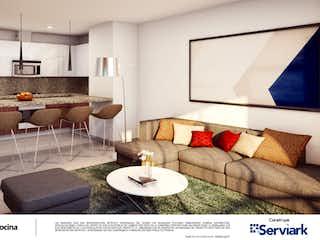 Una sala de estar llena de muebles y una gran ventana en Torre de San Simon