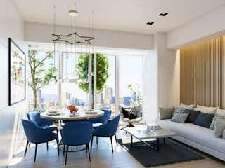 Una sala de estar llena de muebles y una gran ventana en The park