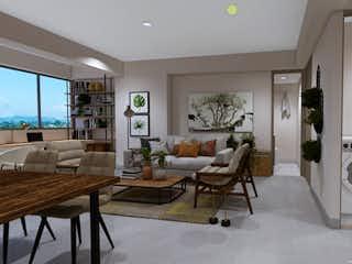 Una sala de estar llena de muebles y una mesa en Vivarí torre 1