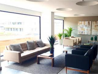 Una sala de estar llena de muebles y una mesa en VENTA APARTAMENTO ALTABLANCA (USAQUEN)