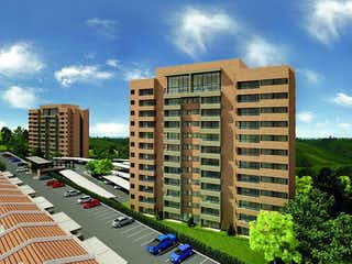 Un edificio alto sentado al lado de un edificio alto en Apartamento en Venta Vereda Los Alticos San Antonio De Pereira