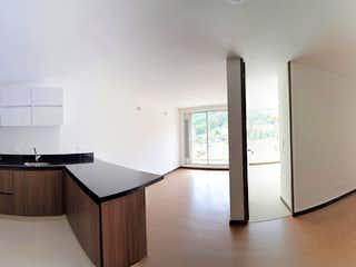 Una cocina con un fregadero y un horno de cocina en Apartaestudio en Venta en Santa Teresa, Usaquen
