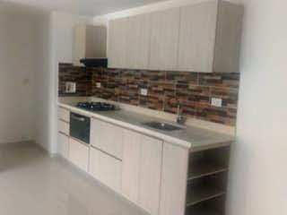 Una cocina con una estufa de fregadero y armarios en Apartamento en venta en La Pilarica de 80m² con Bbq...