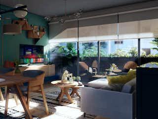 Una sala de estar llena de muebles y una mesa en Lago Constanza 44