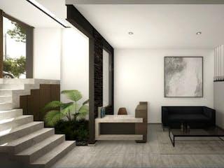 Una sala de estar llena de muebles y una chimenea en Anaxágoras 514