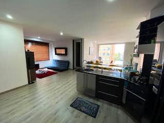 Una cocina con una estufa, un fregadero y una estufa en Apartamento en venta en Chicó Reservado con acceso a BBQ