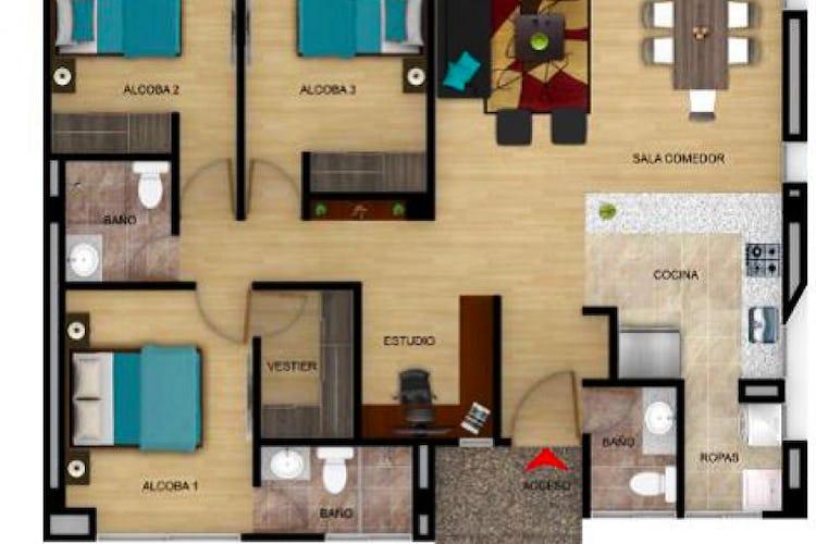 Portada Apartamento En Venta En Cota, con 3 alcobas.