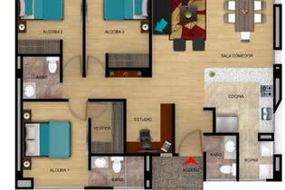 Apartamento en venta en Cota de 3 habitaciones