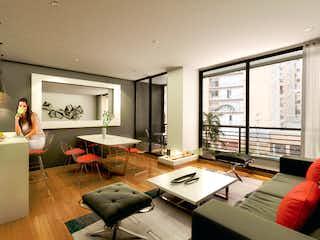 Una sala de estar llena de muebles y una televisión de pantalla plana en Cedro Alto
