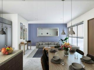 Una sala de estar llena de muebles y una planta en maceta en Romero de Terreros 1010