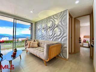 Una sala de estar llena de muebles y una ventana en Living (El Trapiche)