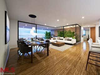 Una sala de estar llena de muebles y una televisión de pantalla plana en Montreal