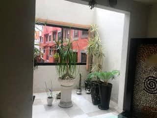 Una planta en maceta sentada encima de la mesa en Casa independiente en condominio