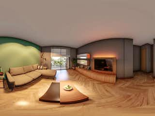 Una sala de estar llena de muebles y una lámpara en Venta Departamento en Mexico Tacuba