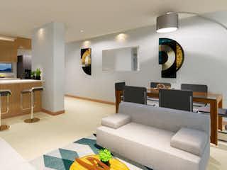 Una sala de estar llena de muebles y una televisión de pantalla plana en Torre Himalaya