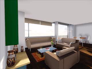 Una sala de estar llena de muebles y una televisión de pantalla plana en Ed. Urales