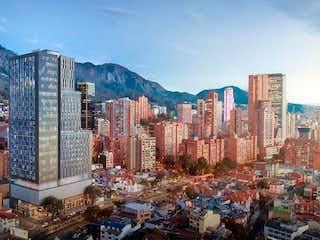 Una vista de una ciudad en medio de una ciudad en Apartamento En Venta En Bogota Samper