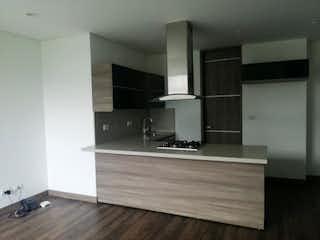 Una cocina con un mostrador, un fregadero y un refrigerador en Apartamento en venta en La Doctora, de 60mtrs2