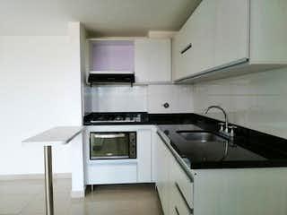 Una cocina con una estufa y un fregadero en Aparatamento En Arriendo O, Apartamento en venta en Los Colegios con Piscina...