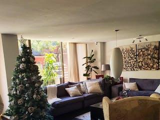 Una sala de estar llena de muebles y un árbol de navidad en Baja de Precio Hermoso y amplio Departamento en Lomas de Chapultepec