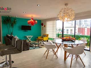 Una sala de estar llena de muebles y un árbol de navidad en Departamento en Pirineos Colonia Santa Cruz Atoyac