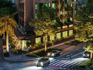 Un gran edificio con un gran edificio en el fondo en Kyux