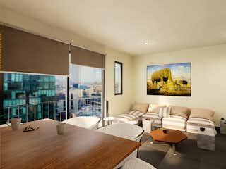 Una sala de estar llena de muebles y una televisión de pantalla plana en Tonalá 203