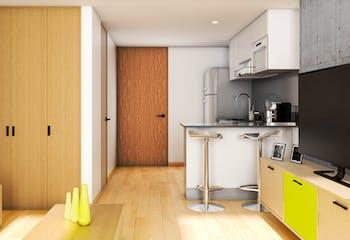 Proyecto nuevo en Mitika, Apartamentos nuevos en Barrio Teusaquillo con 1 habitacion