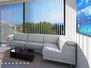 Una sala de estar llena de muebles y una ventana en Senderos de Niza
