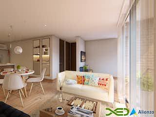 Una sala de estar llena de muebles y una mesa en Mirador del Jardín