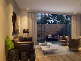 Una sala de estar llena de muebles y una televisión de pantalla plana en Fique