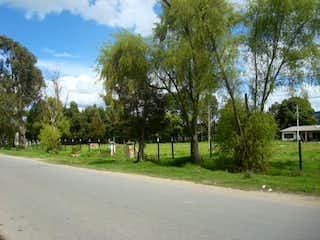 Una vista de un parque con árboles en el fondo en Finca El Trebol