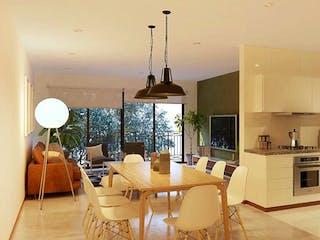 Una sala de estar llena de muebles y una chimenea en Petén 95