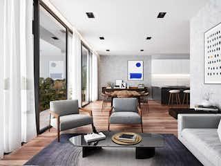 Una sala de estar llena de muebles y una gran ventana en Alumnos 42