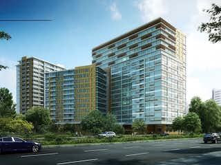 Un edificio alto sentado al lado de una calle en Departamento en Venta en Residencial Hares
