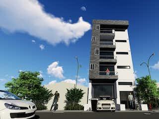 Una torre de reloj muy alta que se eleva sobre una ciudad en G-NESIS APARTAMENTOS