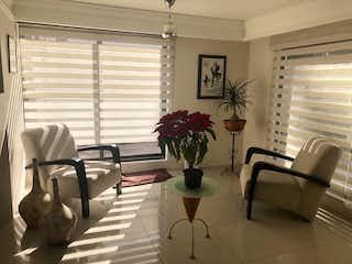 Una sala de estar llena de muebles y una planta en maceta en BONITA CASA AL SUR DE LA CDMX