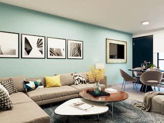Una sala de estar llena de muebles y una televisión de pantalla plana en Elisa