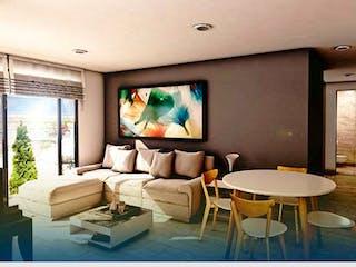 Una sala de estar llena de muebles y una televisión de pantalla plana en Select Living Martin Carrera