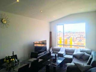 Una sala de estar llena de muebles y una televisión de pantalla plana en Apartamento en venta en Casco Urbano Zipaquirá, 67m²