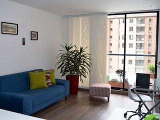 Una sala de estar llena de muebles y una televisión de pantalla plana en Financio Apartamento en Conjunto Residencial Club House