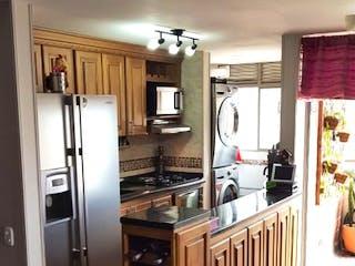 Cocina con nevera y horno de fogones en Apartamento en venta en Loma Del Indio, 73m² con Piscina...