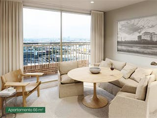 Una sala de estar llena de muebles y una gran ventana en Apartamento En Venta En Bogota Las Américas-Kennedy