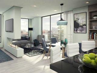 Una sala de estar llena de muebles y una televisión de pantalla plana en Mattiz 103