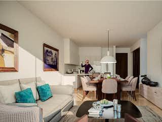 Una sala de estar llena de muebles y una televisión de pantalla plana en Av Cuauhtémoc 918