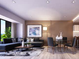 Una sala de estar llena de muebles y una mesa en Tlalpan 998