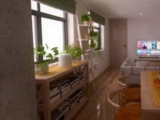 Una vista de una sala de estar y una sala de estar en Siberia